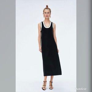 NWT Zara Sleeveless Midi Dress